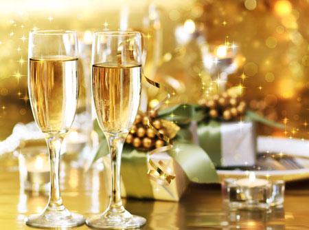 новый год, Днепр, бокалы, шампанское