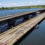 У Нікопольському районі запустили рух понтонним мостом