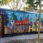 В Кривом Роге появился мурал на детской площадке